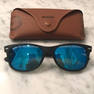 Ray-Ban New Wayfarer Sunglasses - Blue Mirror